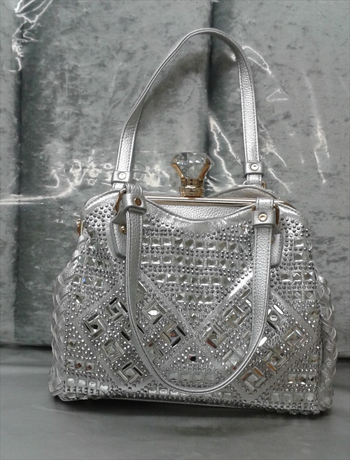 Bling Geometric Design Handbag