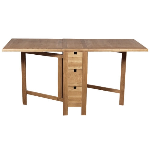 Hampshire Range Solid Oak Gate Leg Table With Drawers