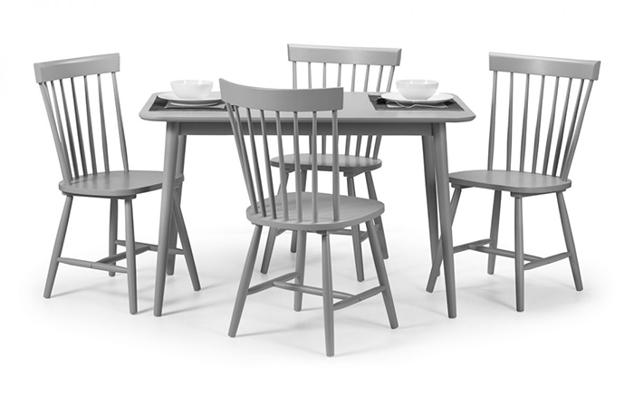 Torino Lunar Grey Dining Set (4 Chairs )