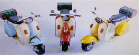 Repro Tin Plate Scooters Blue / Yellow or Red Models