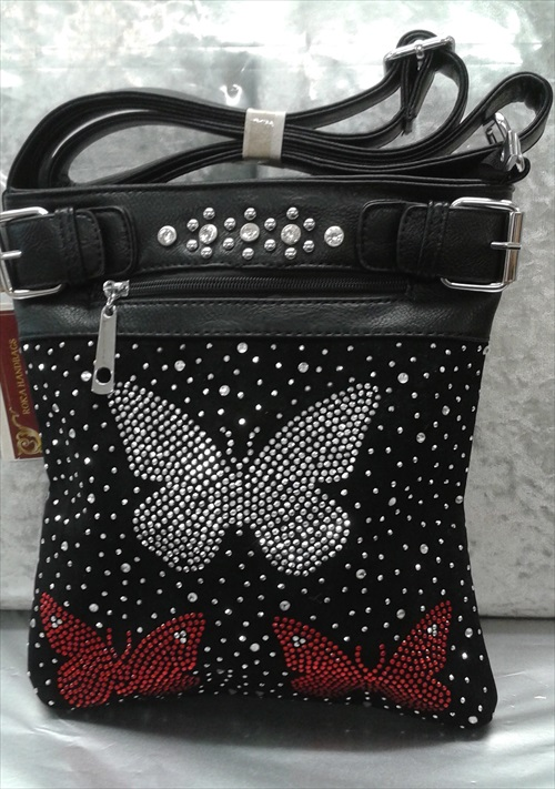 Butterflies Design Crossbody Handbag