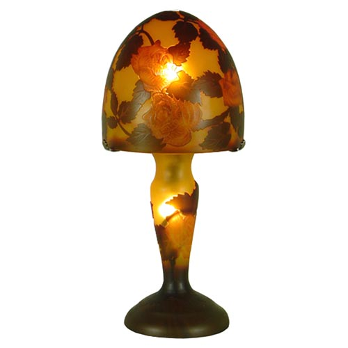GALLE STYLE TIFFANY MUSHROOM DESIGN TABLE LAMP