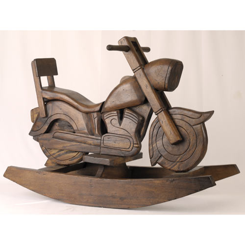 Rocking Display Only Wooden Motor Bikes