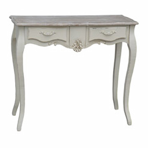 CREAM LORIE 2 DRAWER SIDE TABLE