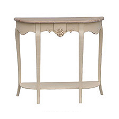 Cream loire range tbs discount furniture a large for Cream hall table