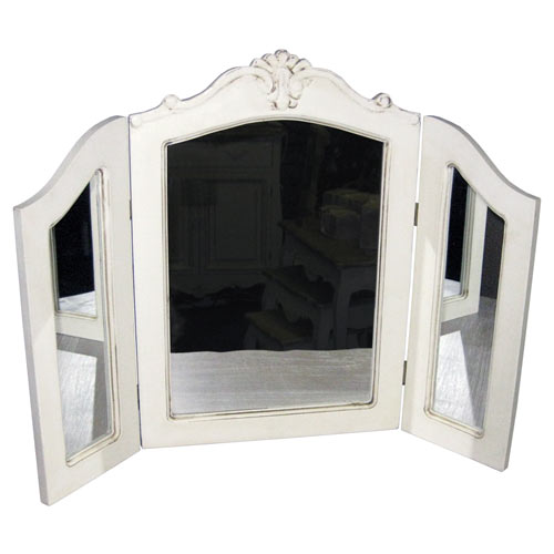 CREAM LORIE TRIPLE MIRROR