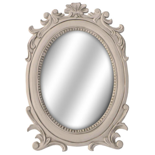 CREAM LORIE OVAL WALL MIRROR