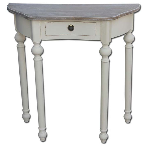 French Country Style Distressed Side Table