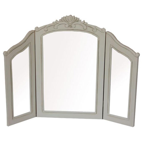 French country style distressed triple dressing table for Cheap dressing table with mirror