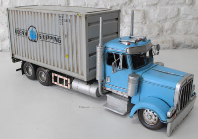 Repro Tin Plate Container Truck