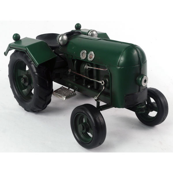 Repro Old Green Tin Plate Tractor 22cm