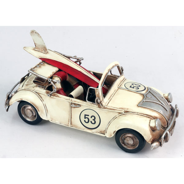 "VW Style Convertible Car ""Repro Tin Plate"""