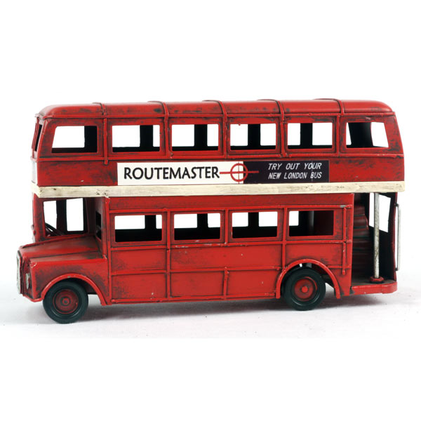 Red Routemaster London Tin Plate Bus