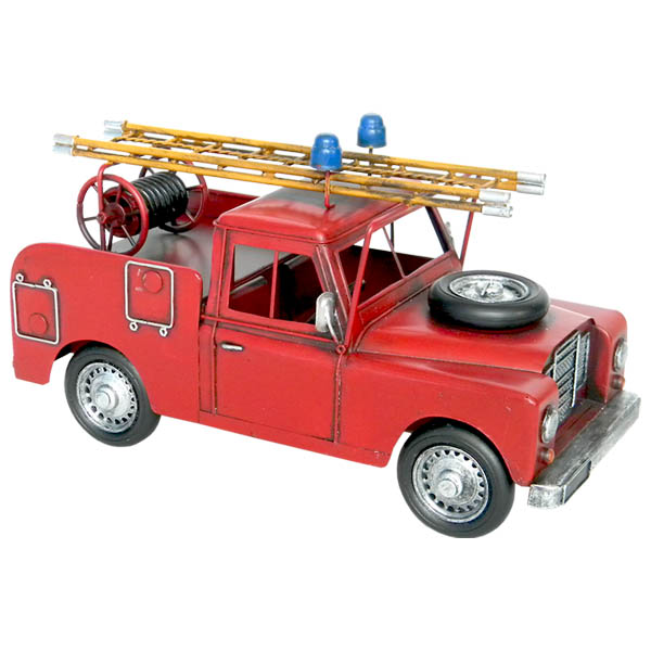 Repro Tin Plate Landrover Fire Engine Truck