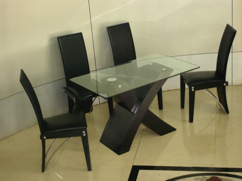 Arizona Glass Top Table & 4 Chairs