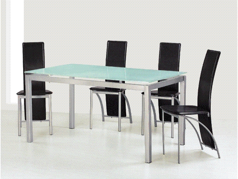 Berlin Glasstop Table & 6 Chairs