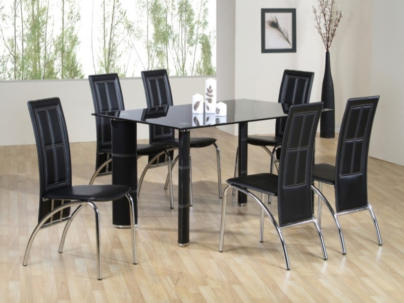 Worcester Glass Top Table & 6 Chairs
