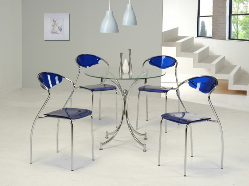 Jersey Glass Top Table & 4 Chairs
