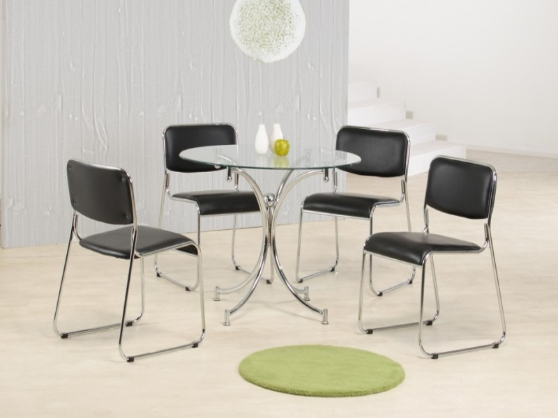 Orkney Glass Top Table & 4 Chairs