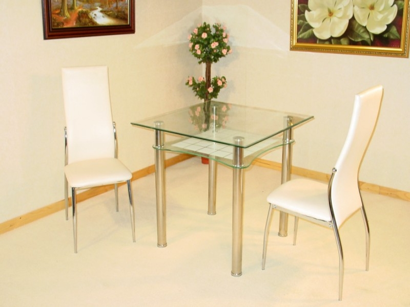 Jazo Glass Top Table & 2 Chairs