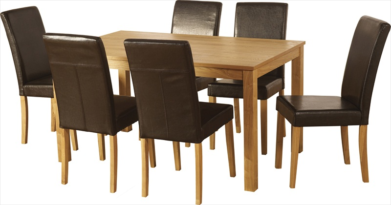 Ashbourne (Ash Veneer) Table & 6 Chairs