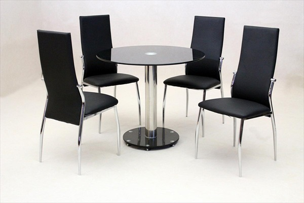 Alonza Black round Dining Set