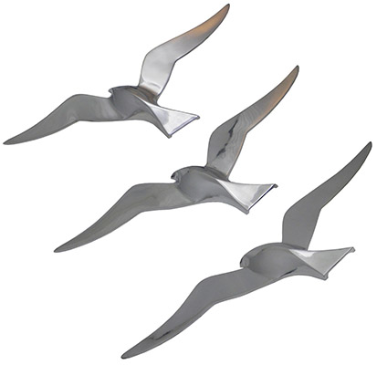 Aluminium Set Of 3 3 Seagulls