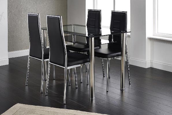 Andora Dining Set Glass Top