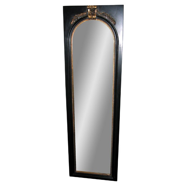 Antique Black/Gold Frame With Flat Mirror