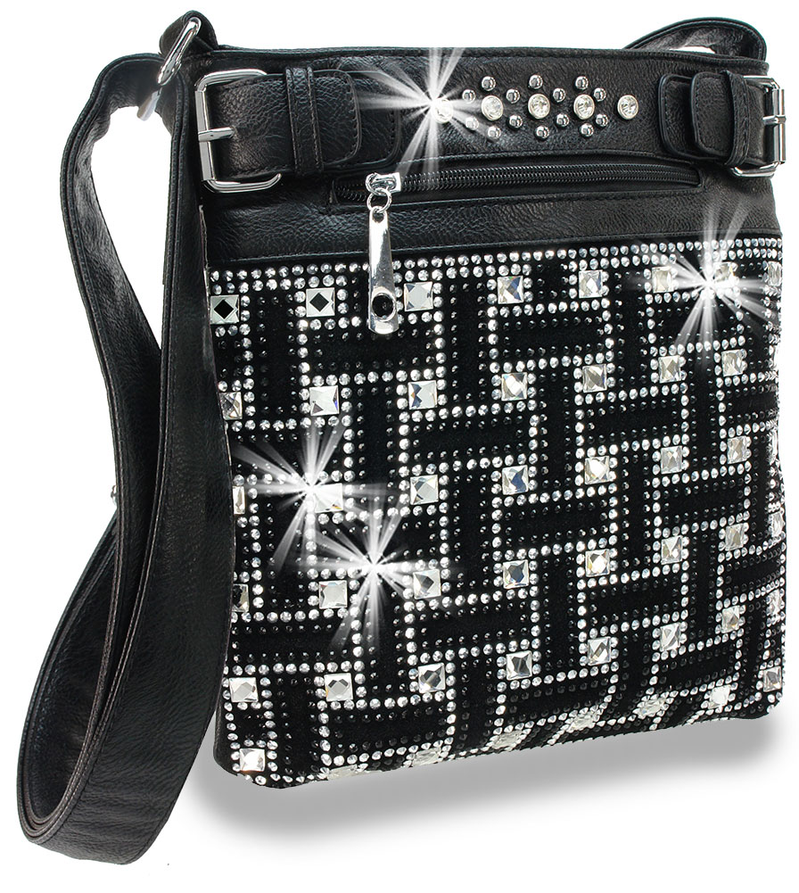 Bling Rinestone Design Crossbody Sling