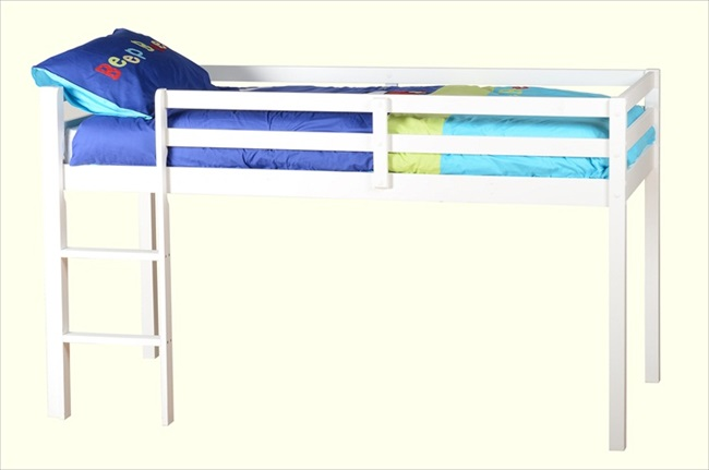Bolero White High Bunk Bed