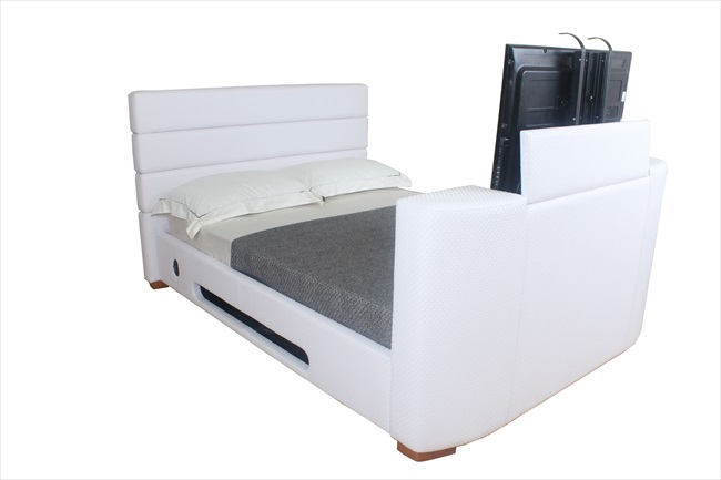 Balmain Black / Brown or White pu Tv Beds From