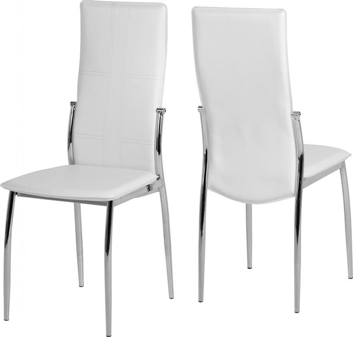 Berkley Chair in White Faux Leather
