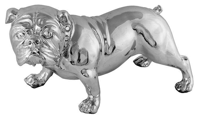 Resin Bulldog Silver Finish