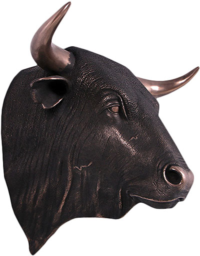 Resin Bulls Head Imperial Bronze Finish