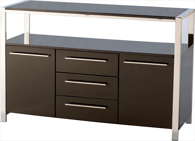 Charisma 2 Door 3 Drawer White or Black Gloss Sideboard