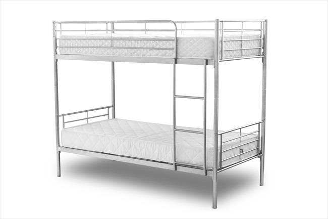 Chicago Silver Finish bunk Beds