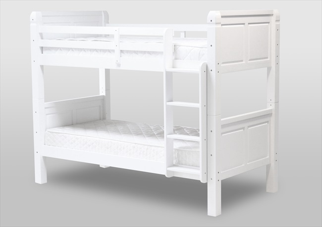 Corona Satin White Bunk Bed