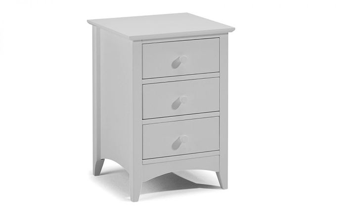 Cameo 3 Drawer Bedside Dove Grey