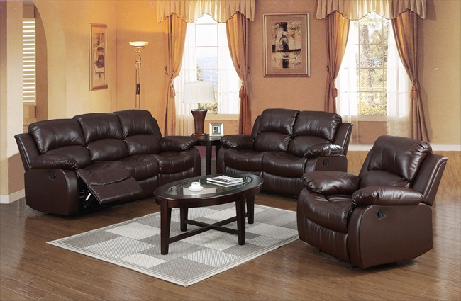 Carlino Brown Full Bonded Leather Recliner Range From