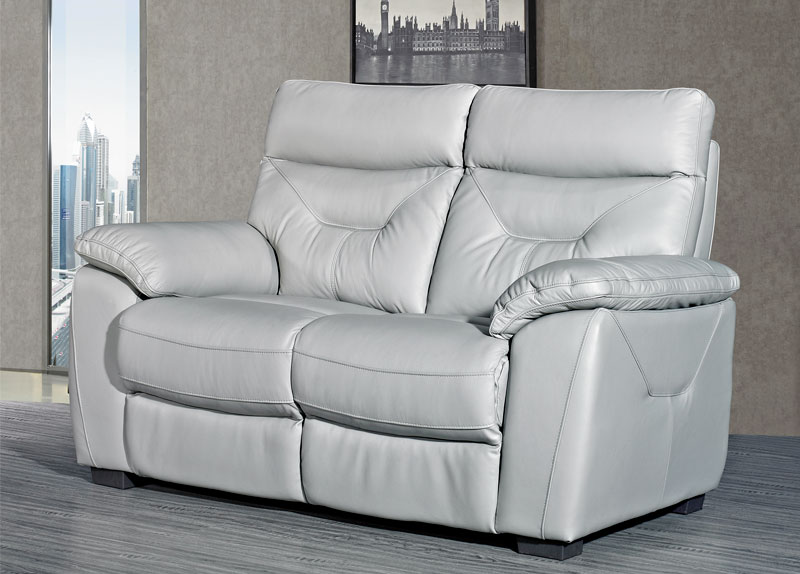 Como Leather 2 Seater Fixed