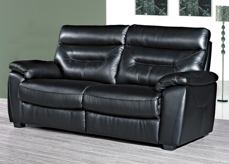 Como Leather 3 Seater Fixed