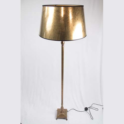 Configurable Brass Floor Lamp With Gold Venitian Shade