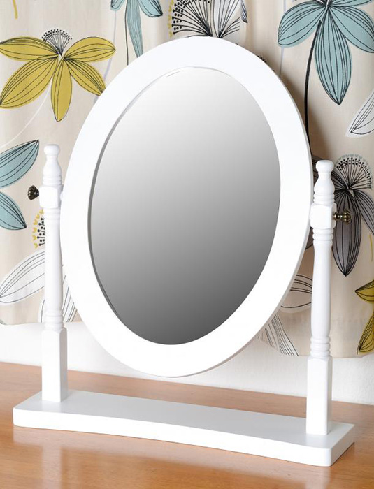 Contessa Dressing Table Mirror in White
