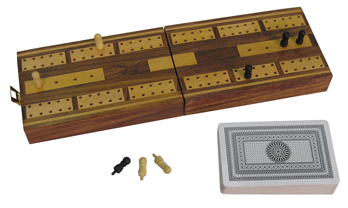 Cribbage Board/Box With Cards
