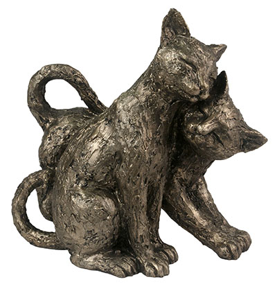 Cast Resin 2 Cats 21CM