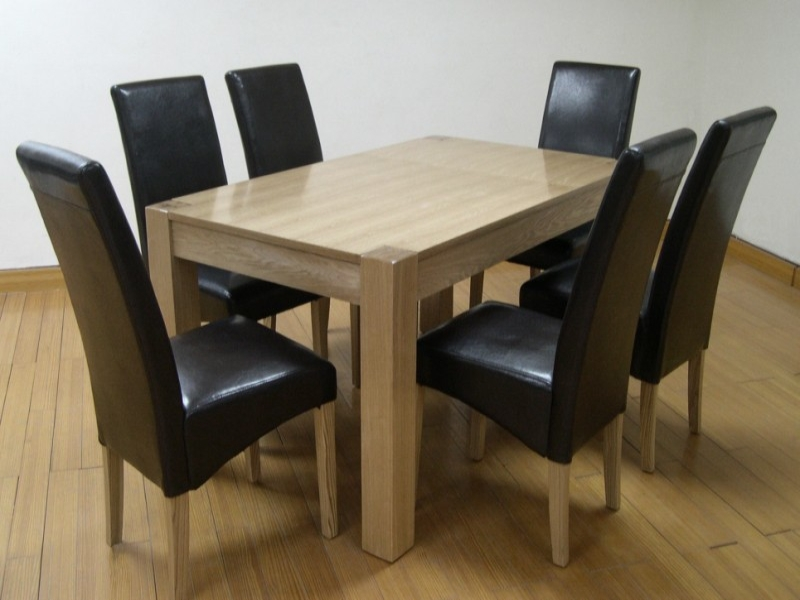 "Cyprus Solid Ash & Ash Veneer ""Large"" Table & 4 Chairs"