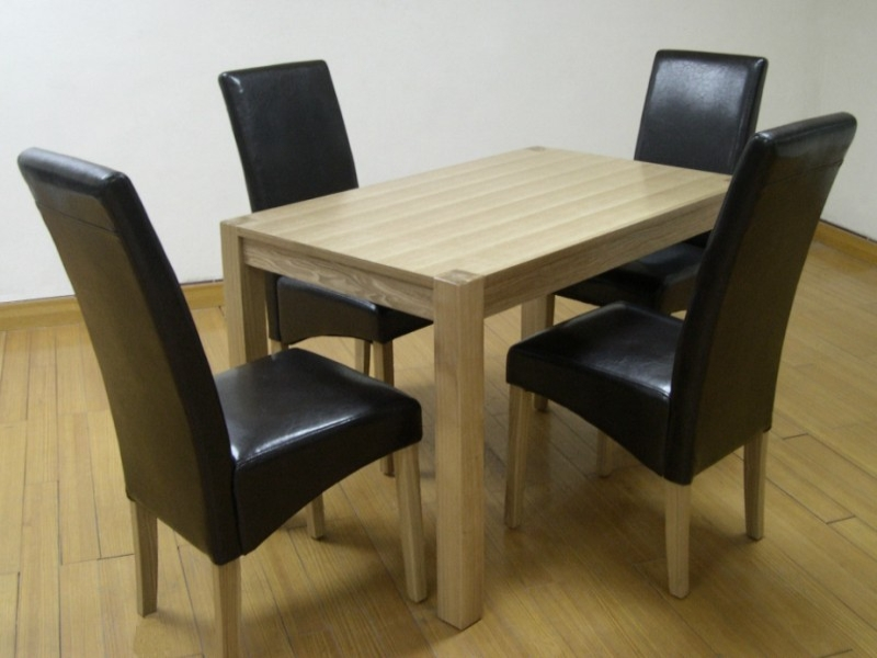 "Cyprus Solid Ash & Ash Veneer ""small"" Table & 4 Chairs"