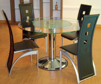 D67 Lazy Susan Table & 2 C66 Chairs