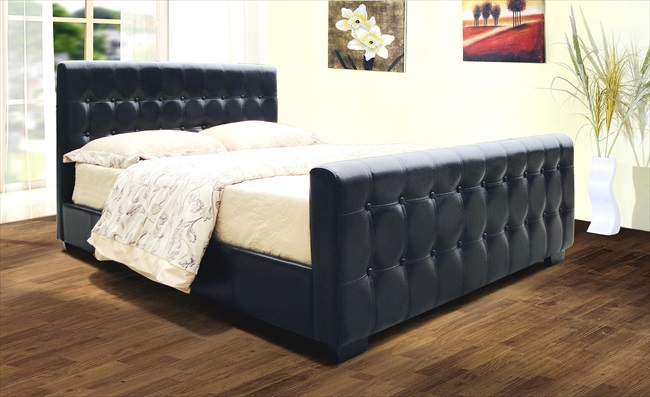 Dakar High End Brown or Black pu Bedstead From